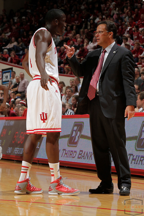 15 November 2012: Indiana head coach Tom Crean as the Indiana Hoosiers played the Sam Houston State Bearkats in Bloomington, Ind..