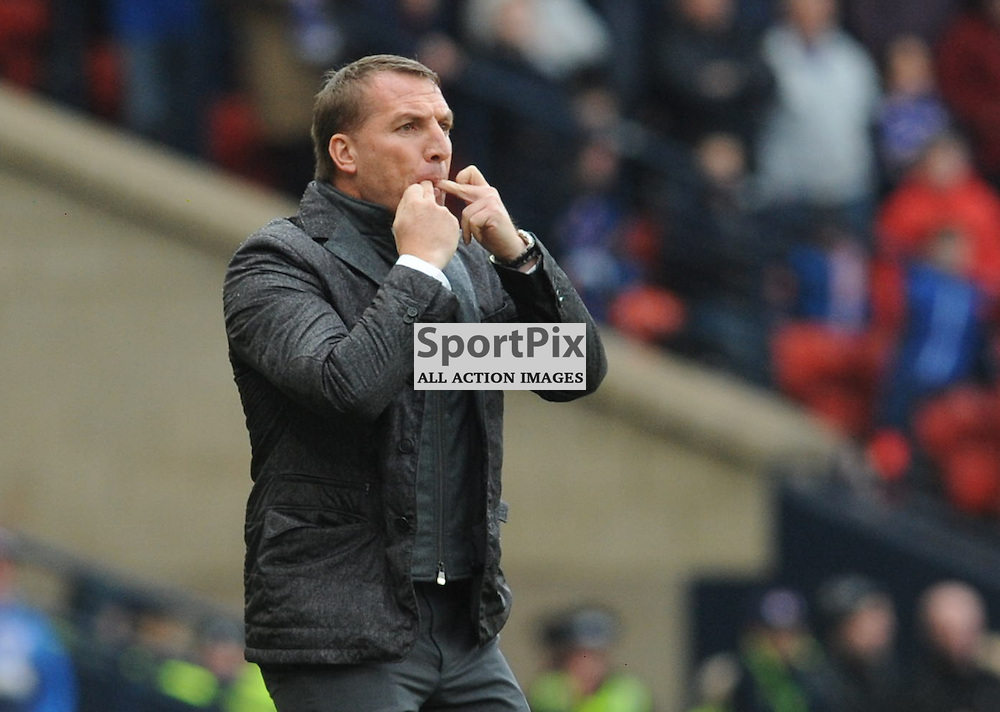 Celtic Manager Brendan Rodgers in the match between Rangers v Celtic, Betfred Cup semi-final, Hampden Park, Sunday 23 October 2016, (c) Angie Isac | SportPix.org.uk
