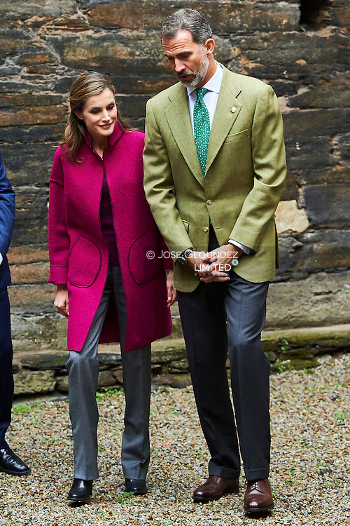 King Felipe VI of Spain, Queen Letizia of Spain visit 2016 Exemplary Region of Los Oscos (San Martin de Oscos, Villanueva de Oscos, Santa Eulalia de Oscos) on October 22, 2016 in Los Oscos, Spain. The Region of Los Oscos was honoured as the 2016 Best Asturian Village.