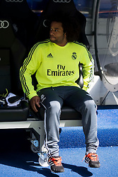 09.04.2016, Estadio Santiago Bernabeu, Madrid, ESP, Primera Division, Real Madrid vs SD Eibar, 32. Runde, im Bild Real Madrid's Marcelo // during the Spanish Primera Division 32th round match between Real Madrid and SD Eibar at the Estadio Santiago Bernabeu in Madrid, Spain on 2016/04/09. EXPA Pictures © 2016, PhotoCredit: EXPA/ Alterphotos/ Borja B.Hojas<br /> <br /> *****ATTENTION - OUT of ESP, SUI*****