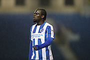 Brighton & Hove Albion striker Elvis Manu (19) during the EFL Trophy Southern Group G match between U23 Brighton and Hove Albion and Leyton Orient at the American Express Community Stadium, Brighton and Hove, England on 8 November 2016.