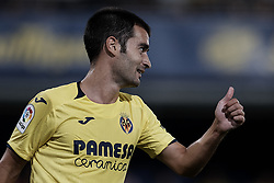 August 31, 2018 - Vila-Real, Castellon, Spain - Manu Trigueros of Villarreal CF reacts during the La Liga match between Villarreal CF and Girona FC at Estadio de la Ceramica on August 31, 2018 in Vila-real, Spain  (Credit Image: © David Aliaga/NurPhoto/ZUMA Press)