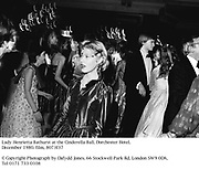 Lady Henrietta Bathurst at the Cinderella Ball. Dorchester Hotel. December 1980. film, 8073f37<br />