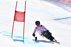 KURKA Andrew LW12-1 USA competing in ParaSkiAlpin, Para Alpine Skiing, Super G at PyeongChang2018 Winter Paralympic Games, South Korea.