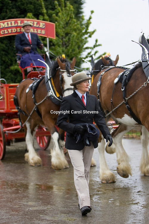 Newark and Notts Show 2010<br /> Hugh Ramsay and Millisle Clydesdales