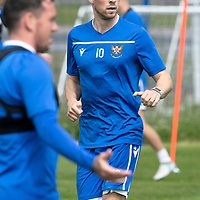 St Johnstone Training….29.06.19   McDiarmid Park, Perth<br />David Wotherspoon<br />Picture by Graeme Hart.<br />Copyright Perthshire Picture Agency<br />Tel: 01738 623350  Mobile: 07990 594431