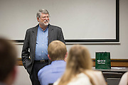 Gary Coombs addresses his learning community at the start of class on October 19, 2016.