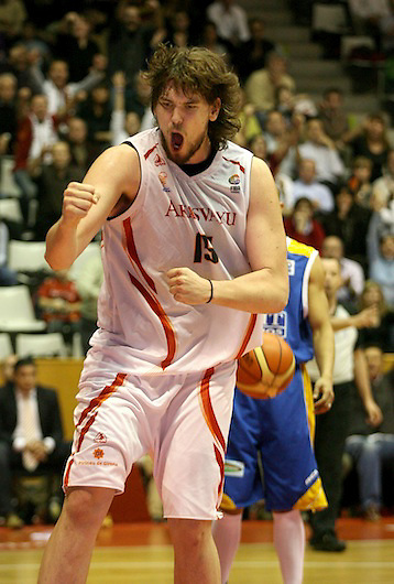 TEMA: FIBA CUP. SEMIS: ESTUDIANTES I AKASVAYU. VICTORIA DE AKASVAYU..LUGAR: GIRONA..FECHA: 13/04/07..FOTO: CLICK ART FOTO.