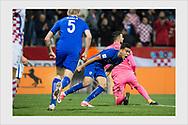 Pyry Soiri celebrates a late 1-1 goal in his national team debut. Croatia - Finland. Rijeka. October 6, 2017.
