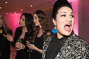 NATALIA SOUZA; INES DE LA ROCHE; BISHI, Liberatum host A special 'In Conversation' event Courtney Love with Dylan Jones, As part of the Liberatum 'Women in Creativity' series<br /> St. Martins Lane hotel, London. 21st March 2016