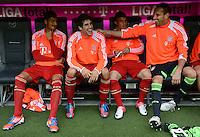 FUSSBALL   1. BUNDESLIGA  SAISON 2012/2013   3. Spieltag FC Bayern Muenchen - VfB Stuttgart      02.09.2012 Diego Contento, Javi Martinez, Xherdan Shaqiri, Torwart Tom Starke (v. li., FC Bayern Muenchen)