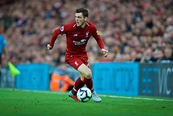 LIVERPOOL, ENGLAND - Sunday, October 7, 2018: Liverpool's Andy Robertson during the FA Premier League match between Liverpool FC and Manchester City FC at Anfield. (Pic by David Rawcliffe/Propaganda)
