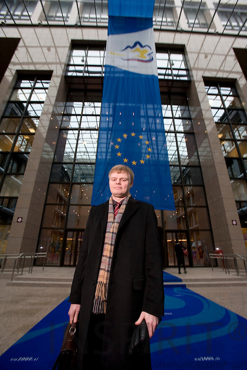 BRUSSELS - BELGIUM - 18 JANUARY 2008 -- Carl-Johan LINDÉN, Counsellor for Special Committee on Agriculture (SCA) and Common Agriculture Policy (CAP), Permanent Representation of Sweden to the EU. Here seen in the building of the EU Council.  Photo: Erik Luntang/
