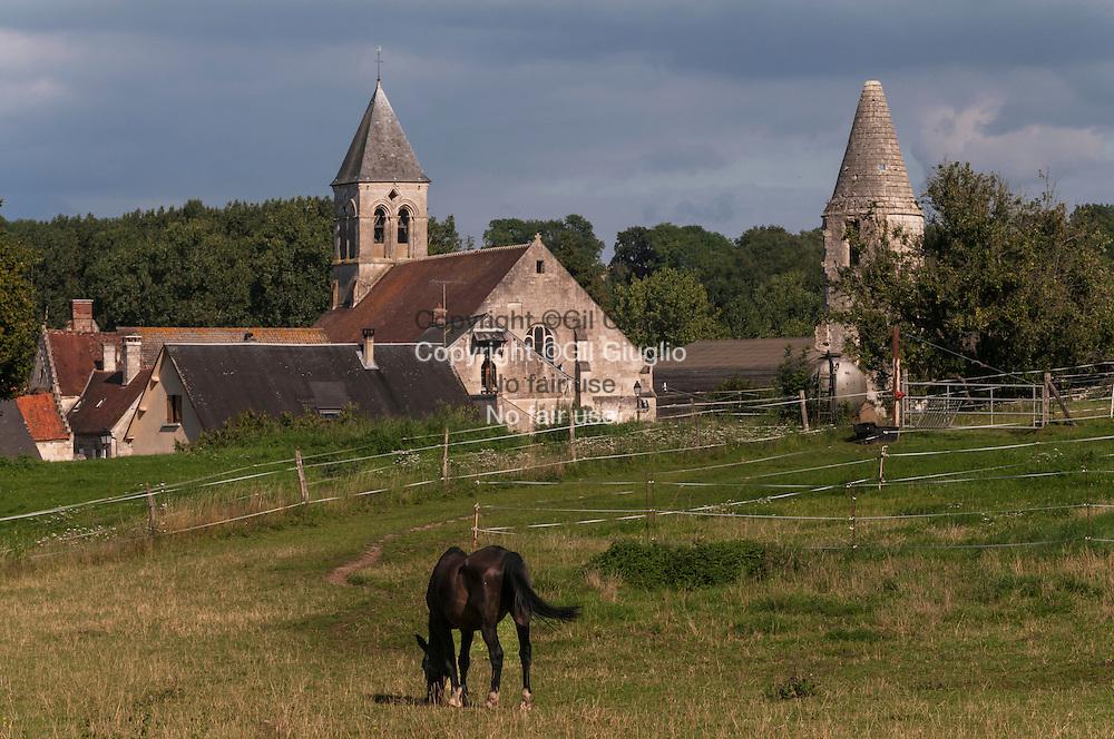 France, Haut-de France, Oise (60), région du Compiègnois, village de Chelles// France, Haut de France (ex Picardy region), Oise county, Compiegnois land, Chelles village France, Hauts-de-France, Oise