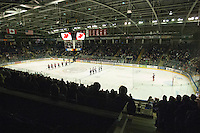 KELOWNA, CANADA - NOVEMBER 30: The Moose Jaw Warriors at the Kelowna Rockets on November 30, 2012 at Prospera Place in Kelowna, British Columbia, Canada (Photo by Marissa Baecker/Getty Images) *** Local Caption ***