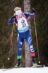 Federica Sanfilippo (ITA) competes during Women 10 km Pursuit at day 3 of IBU Biathlon World Cup 2015/16 Pokljuka, on December 19, 2015 in Rudno polje, Pokljuka, Slovenia. Photo by Ziga Zupan / Sportida