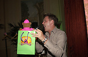 Brian Dowling. Celebrity Bingo at launch of  www.archers.com. Home House. 16 May 2002. © Copyright Photograph by Dafydd Jones 66 Stockwell Park Rd. London SW9 0DA Tel 020 7733 0108 www.dafjones.com