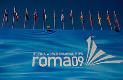 Tribune during the 13th FINA World Championships Roma 2009, on August 1, 2009, at the Stadio del Nuoto,  in Foro Italico, Rome, Italy. (Photo by Vid Ponikvar / Sportida)