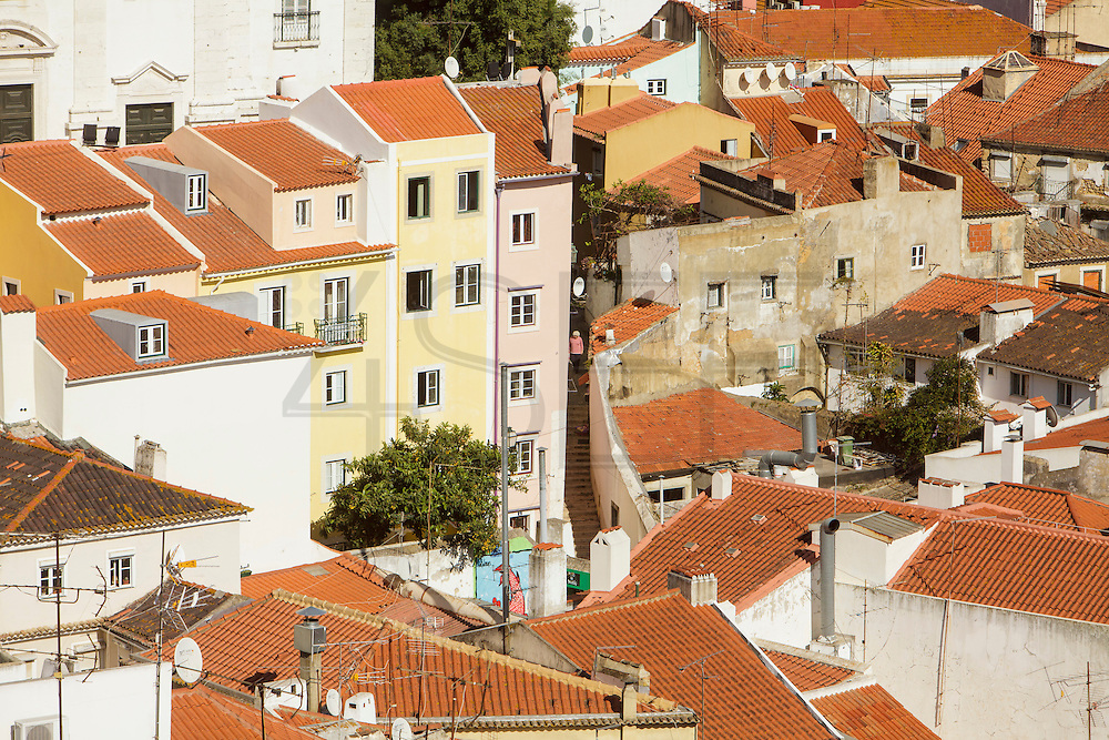 Alfama seen from Portas do Sol lookout in Lisbon.