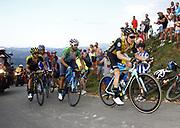 Steven Kruijswijk (NED, Team LottoNL Jumbo), Alejandro Valverde (ESP, Movistar) and Simon Yates (GBR, Mitchelton Scott) during the 73th Edition of the 2018 Tour of Spain, Vuelta Espana 2018, Stage 14 cycling race, Cistierna - Les Praeres Nava 171 km on September 8, 2018 in Spain - Photo Luca Bettini/ BettiniPhoto / ProSportsImages / DPPI