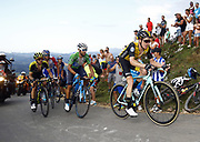 Steven Kruijswijk (NED, Team LottoNL Jumbo), Alejandro Valverde (ESP, Movistar) and Simon Yates (GBR, Mitchelton Scott) during the 73th Edition of the 2018 Tour of Spain, Vuelta Espana 2018, Stage 14 cycling race, Cistierna - Les Praeres Nava 171 km on September 8, 2018 in Spain - Photo Luca Bettini/ BettiniPhoto / ProSportsImages / DPPI