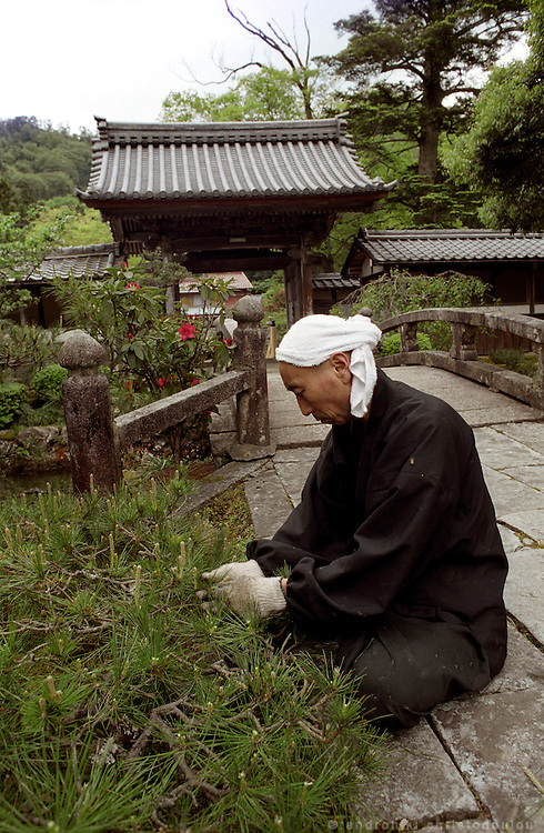"LIVING ZEN - HOSHINJI MONASTERY, OBAMA-JAPAN..Working as part of the monastic practice or ""everyday life Zazen"" as they call it."