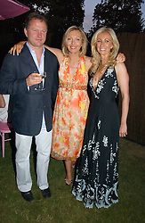 Left to right, NICK JONES, KIRSTY YOUNG and JENNY HALPERN at the Serpentine Gallery Summer party sponsored by Yves Saint Laurent held at the Serpentine Gallery, Kensington Gardens, London W2 on 11th July 2006.<br />