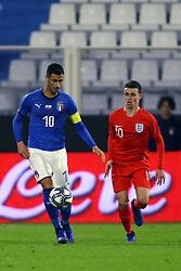 ROLANDO MANDRAGORA (ITALY) VS PHIL FODEN (ENGLAND)     <br /> Football friendly match Italy vs England u21<br /> Ferrara Italy November 15, 2018<br /> Photo by Filippo Rubin