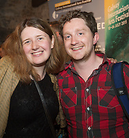 "Emer McHugh and Chris McCormack at the World Premiere of the ""Luck Just Kissed you Hello""by Amy Conroy in the Mick Lally theatre (Druid) on the opening night of Galway international Arts Festival. Photo:andrew Downes xposure"