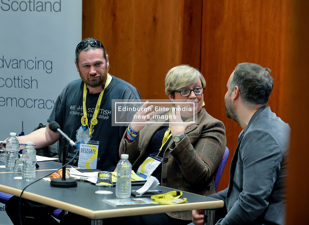 Pictured:<br /> <br /> The SNP held their spring conference at the EICC in Edinburgh, where independence and brevet were high on the agenda.<br /> <br /> © Dave Johnston / EEm