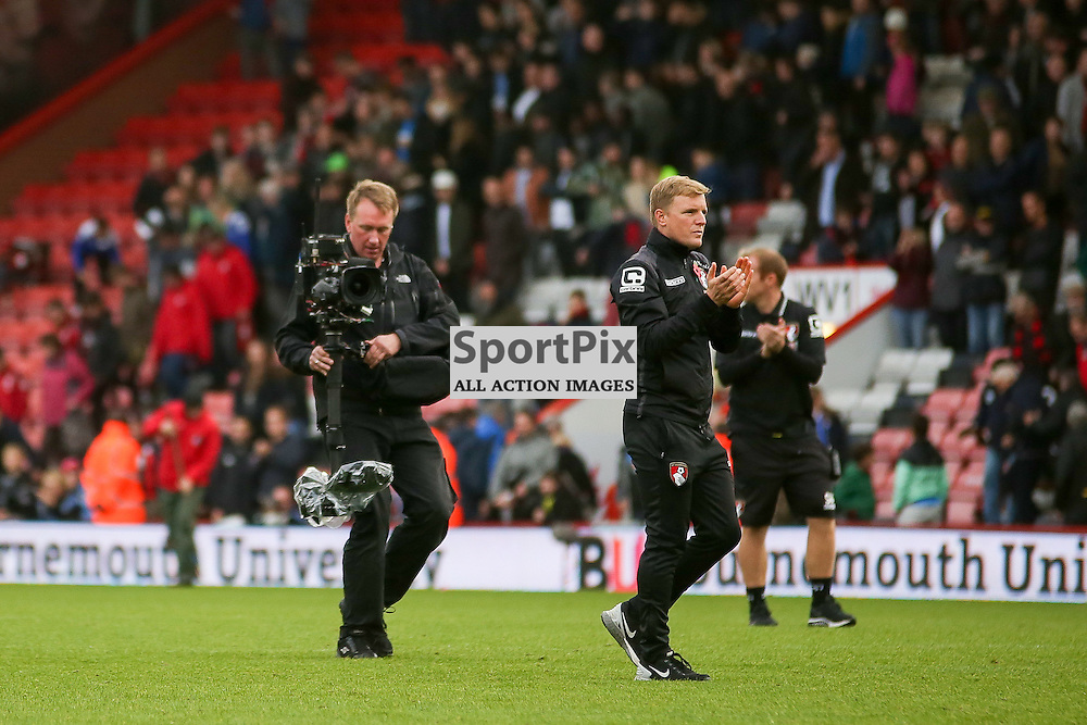 Eddie Howe During AFC Bournemouth vs Newcastle United on Saturday the 7th November 2015.