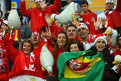 Torcida colorada momentos antes da partida entre as equipes do Internacional, do Brasil e Barcelona, da Espanha válida pela final do Mundial Interclubes da FIFA, no Estadio Internacional de Yokohama. FOTO: Jefferson Bernardes/Preview.com