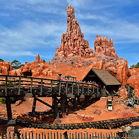 Big Thunder Mountain Railroad in Frontierland at Magic Kingdom in Orlando, Florida<br />