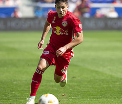 September 30, 2018 - Harrison, New Jersey, United States - Brian White (42) of Red Bulls control ball during regular MLS game against Atlanta United FC at Red Bull Arena Red Bulls won 2 - 0  (Credit Image: © Lev Radin/Pacific Press via ZUMA Wire)