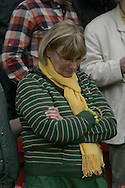 London - Sunday, May 3rd, 2009: A tearful Norwich City supporter after the Coca Cola Championship match at The Valley, London. (Pic by Mark Chapman/Focus Images)