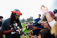 January 28 2016: Seattle Seahawks corner Richard Sherman signs autographs after the Pro Bowl practice at Turtle Bay Resort on North Shore Oahu, HI. (Photo by Aric Becker)