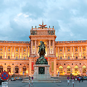Osterreichische Nationalbibliothek (Austrian National Library) at the Hofburg (Court Palace), Vienna