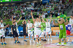 Farewell as basketball player of Jaka Lakovic #5 of Slovenia during basketball match between national team of Slovenia and Ukraine in 5th Place game at Day 18 of Eurobasket 2013 on September 21, 2013 in SRC Stozice, Ljubljana, Slovenia. (Photo By Matic Klansek Velej / Sportida.com)
