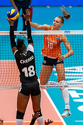 03-08-2019 ITA: FIVB Tokyo Volleyball Qualification 2019 / Netherlands, - Kenya Catania<br /> 3rd match pool F in hall Pala Catania between Netherlands - Kenya. Netherlands win 3-0 / Nika Daalderop #19 of Netherlands
