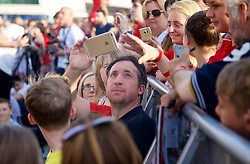 LIVERPOOL, ENGLAND - Monday, May 9, 2016: Liverpool's Robbie Fowler at the launch of the New Balance 2016/17 Liverpool FC kit at a live event in front of supporters at the Royal Liver Building on Liverpool's historic World Heritage waterfront. (Pic by Lexie Lin/Propaganda)