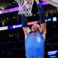 04 April 2014: Dallas Mavericks forward Shawn Marion (0) dunks the ball during the Dallas Mavericks 107-95 victory over the Los Angeles Lakers at the Staples Center, Los Angeles, California, USA.