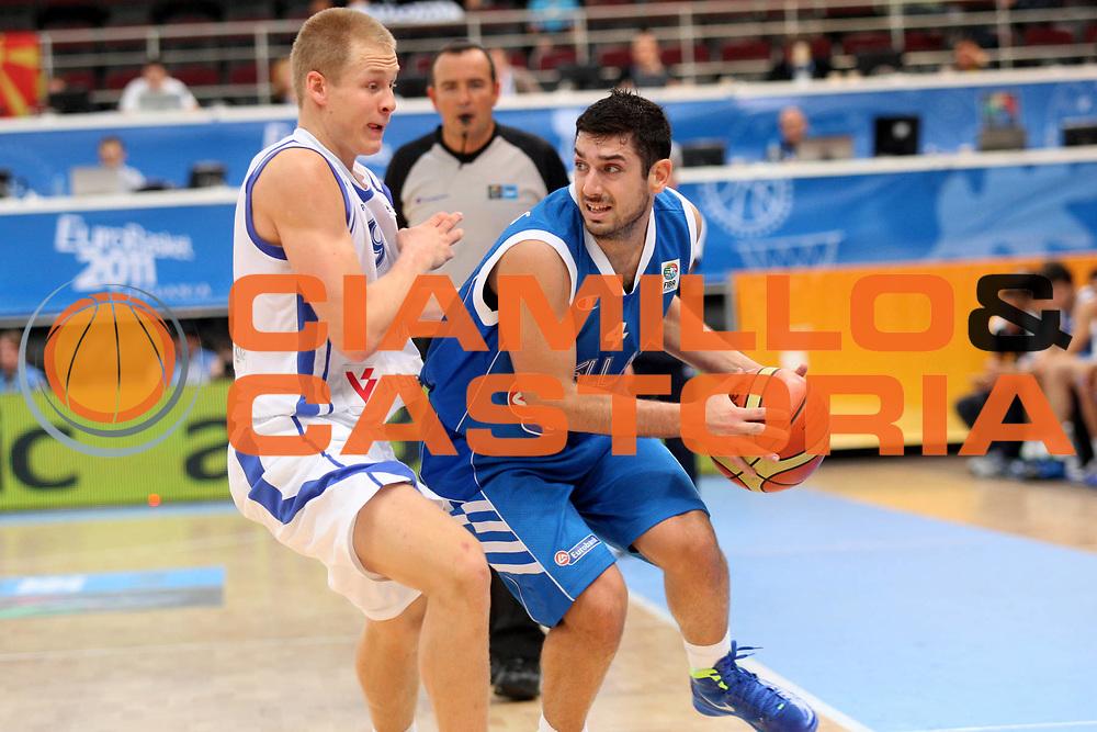 DESCRIZIONE : Alytus Lithuania Lituania Eurobasket Men 2011 Preliminary Round Finlandia Grecia Finland Greece<br /> GIOCATORE : Vasileios Xanthopoulos <br /> SQUADRA : Grecia Greece<br /> EVENTO : Eurobasket Men 2011<br /> GARA : Finlandia Grecia Finland Greece<br /> DATA : 01/09/2011 <br /> CATEGORIA : palleggio<br /> SPORT : Pallacanestro <br /> AUTORE : Agenzia Ciamillo-Castoria/K.Georgopoulos<br /> Galleria : Eurobasket Men 2011 <br /> Fotonotizia : Alytus Lithuania Lituania Eurobasket Men 2011 Preliminary Round Finlandia Grecia Finland Greece<br /> Predefinita :
