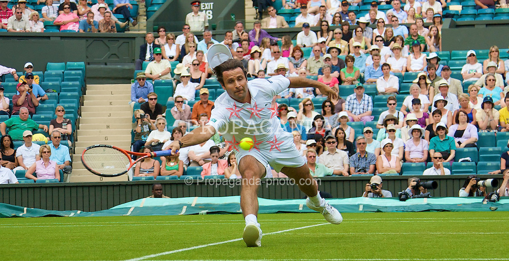 LONDON, ENGLAND - Tuesday, June 24, 2008: Fabrice Santoro (FRA) during his first round match on day two of the Wimbledon Lawn Tennis Championships at the All England Lawn Tennis and Croquet Club. (Photo by David Rawcliffe/Propaganda)