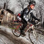 Andréanne Pichette of Opus/OGC at the Championnats québécois de cyclocross in St-Augustin in  on November,  10 2013