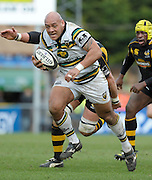 Wycombe, GREAT BRITAIN, Saints' attack through their prop, Soane TONGA'UIHA, during the Guinness Premiership rugby game, London Wasps vs Northampton Saints, at Adam's Park Stadium, Bucks, England, on Sun 22.02.2009. [Photo, Peter Spurrier/Intersport-images]