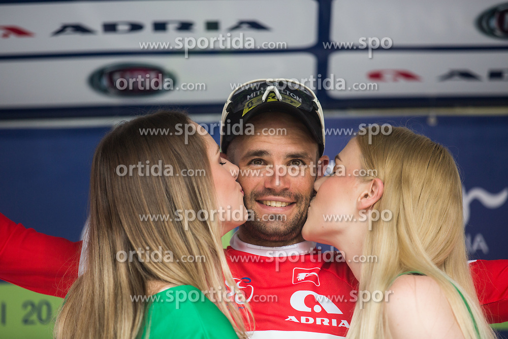 Luka Mezgec (SLO) of Mitchelton - Scott celebrating red jersey, 5th Stage of 26th Tour of Slovenia 2019 cycling race between Trebnje and Novo mesto (167,5 km), on June 23, 2019 in Slovenia. Photo by Peter Podobnik / Sportida