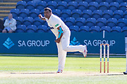 Samit Patel bowling during the Specsavers County Champ Div 2 match between Glamorgan County Cricket Club and Leicestershire County Cricket Club at the SWALEC Stadium, Cardiff, United Kingdom on 17 September 2019.