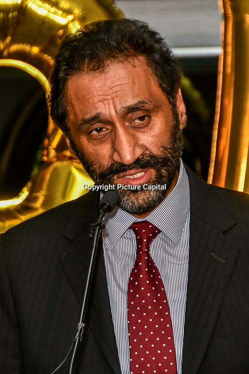 Onkar Sahota attend Awareness gala hosted by the Health Committee with live music and poetry performances at City Hall at The Queen's Walk, London, UK. 18 March 2019.