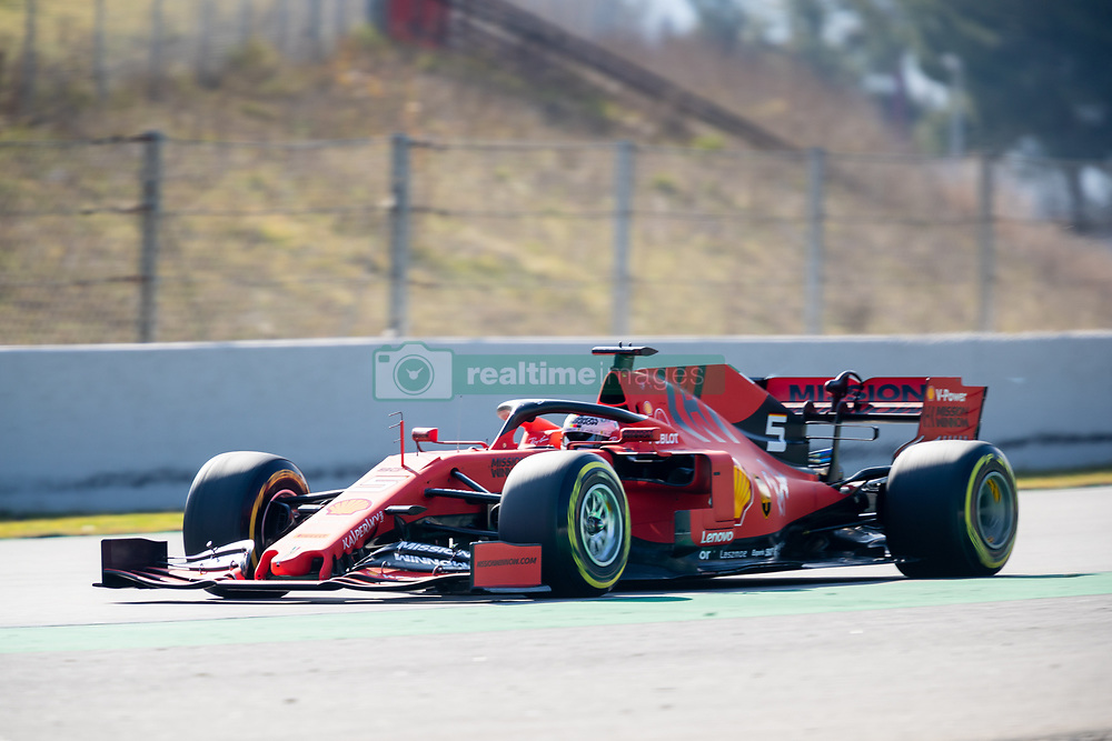 February 18, 2019 - Montmelo, Catalonia, Spain - Sebastian Vettel of Scuderia Ferrari seen in action during the afternoon session of the first day of F1 Test Days in Montmelo circuit. (Credit Image: © Javier MartíNez De La Puente/SOPA Images via ZUMA Wire)