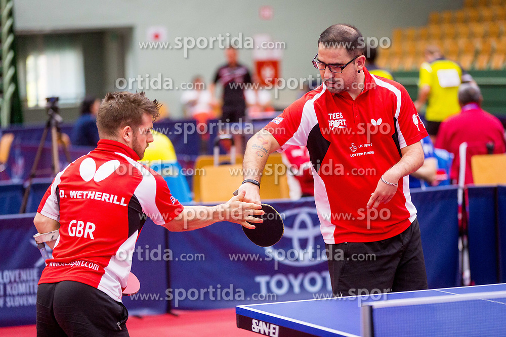 GREAT BRITAIN (WETHERILL David Paul, KARABARDAK Paul Arif and PERRY Martin Robert) during day 4 of 15th EPINT tournament - European Table Tennis Championships for the Disabled 2017, at Arena Tri Lilije, Lasko, Slovenia, on October 1, 2017. Photo by Ziga Zupan / Sportida